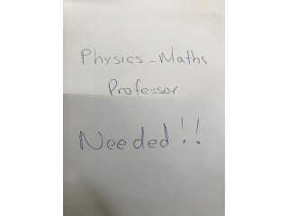 Looking for Physics-Math professor