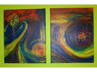 ABSTRACT PAINTING - DOUBLE STORM