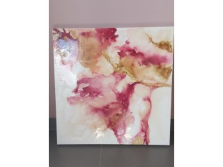 ABSTRACT CANVAS PAINTING (60x60cm) - IN THE PURPLE CLOUDS